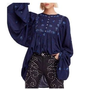 FREE PEOPLE Embroidered Beaded Floral Tunic